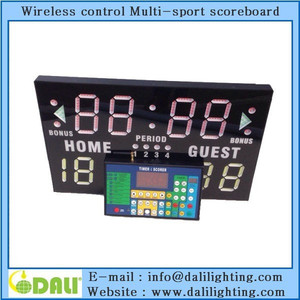 Outdoor LED scoreboard with shot clock by real shot