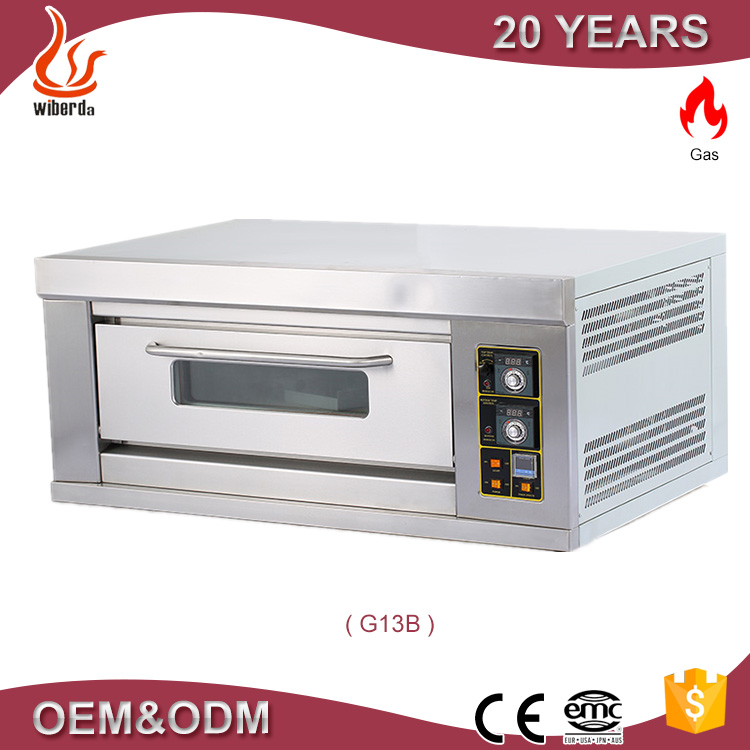 Junjian Factory1 Deck 3 Trays Countertop Gas bakery small bread ovens