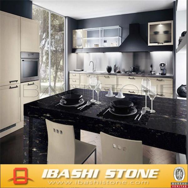 kosmische schwarz Küche fertighaus granit-Tischplatte, Badschrank ...