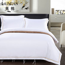 Factory bedding sets wholesale 100% cotton luxury hand embroidered bed sheet for hotel