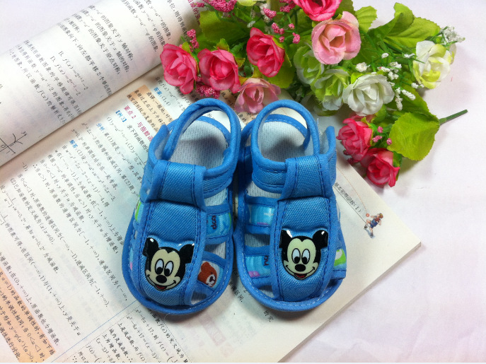 toddler shoes baby shoes babies shoes Blue flower first walkers Footwear