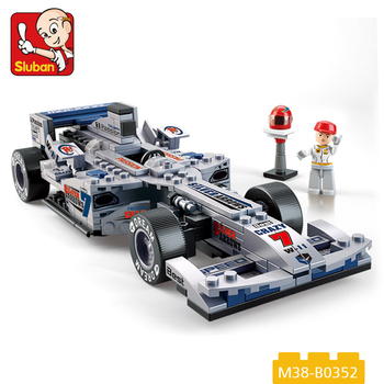 Wholesale Diy Assembly Car Toys Building Block F1 Racing Car Toy For
