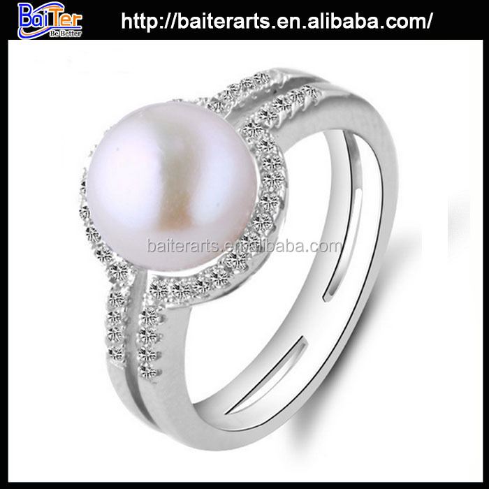 Brilliant Round Cut Girls Silver Ring Designs,925 Sterling Silver ...