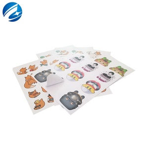 Custom Printing A4 A5 Sheet Waterproof Kiss Cut PVC Vinyl Adhesive Sticker Sheet Label