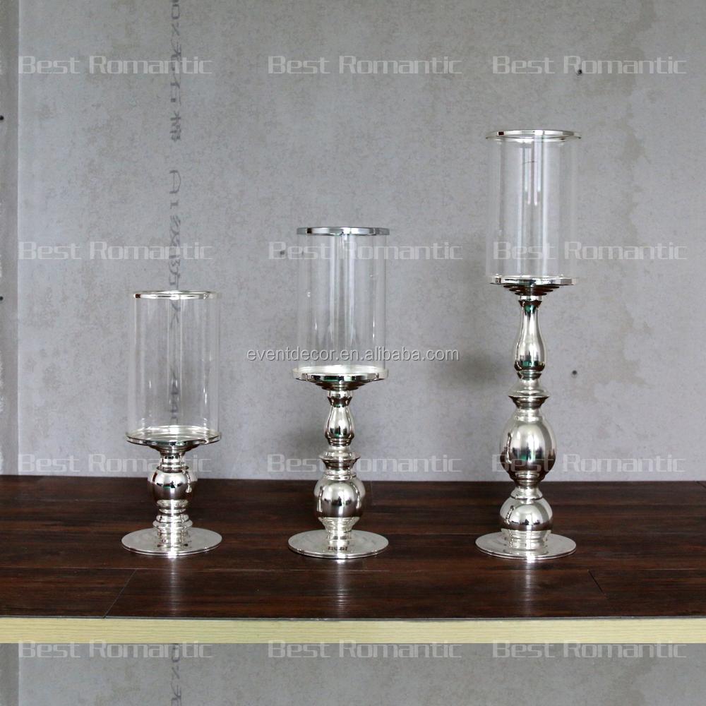 groothandel zilveren kandelaar glas kaars houder voor bruiloft gunst buy zilveren kandelaar. Black Bedroom Furniture Sets. Home Design Ideas