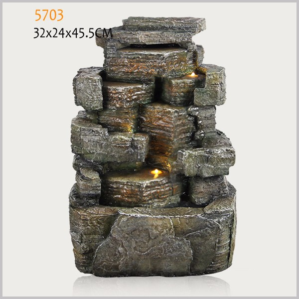polyresin solar power fountain garden water fountains decoration