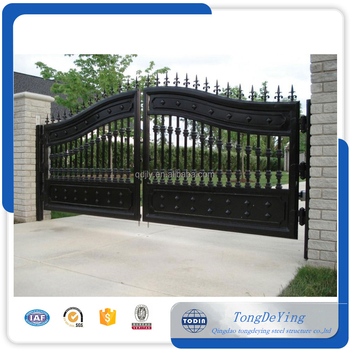 Decorative Wrought Iron Simple Gate Design Entrance Gates House Main Drawings