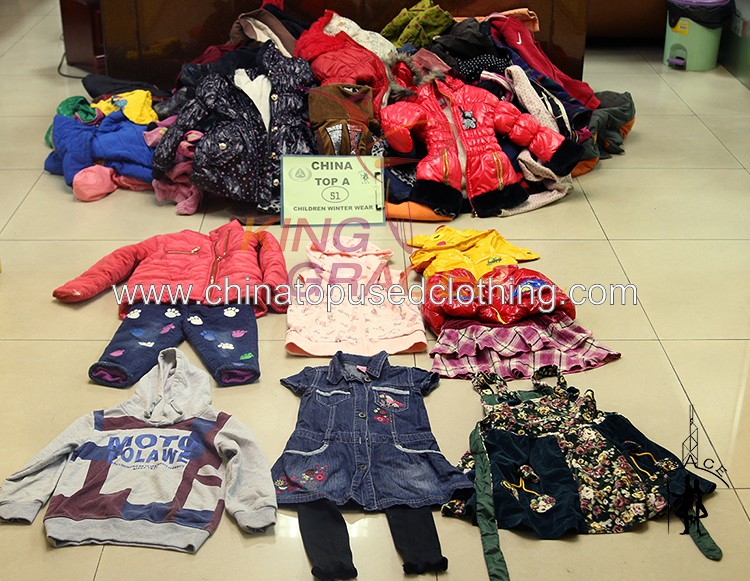 94f707dae Korea style Buyers Children Winter Wear 100kg Bales Of Mixed Used Clothing  For Sale