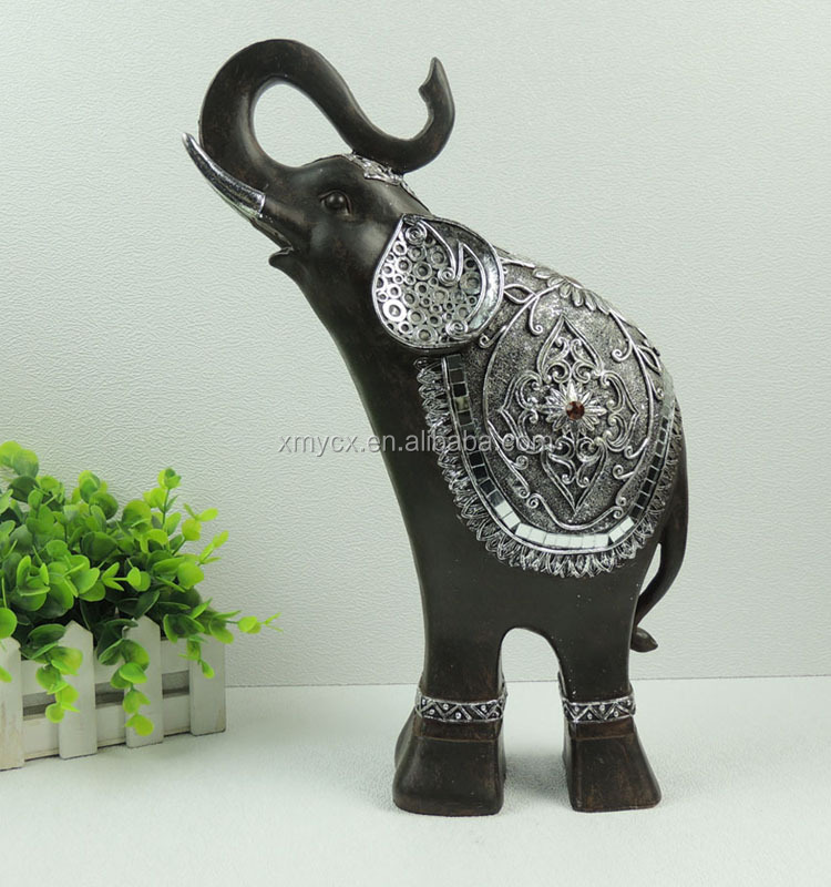 Large Artificial Fat Indian Elephant Statue For Home Decor