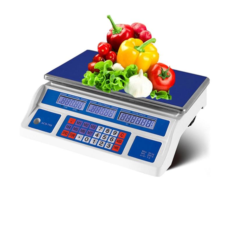 Baik kualitas 30 kg elektronik berat timbangan digital sayuran mesin