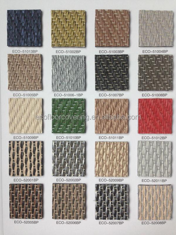 Woven Pvc Flooring Roll And Woven Vinyl Flooring Tile For