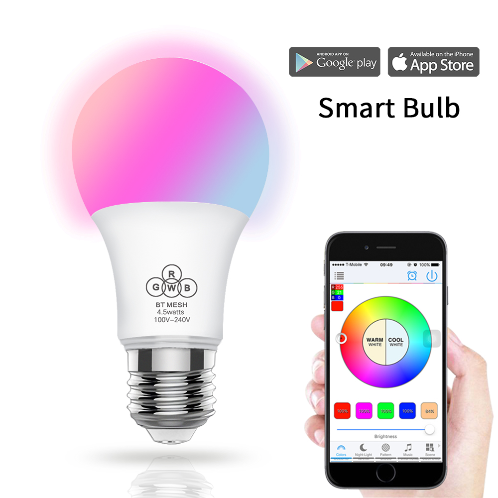 Smart Phone Remote Controlled Bluetooth led Muziek lamp Voice Control RGB WiFi Draadloze Led Lamp Licht
