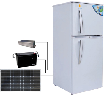Portable Fridge With Solar Panel Refrigerator Fridge