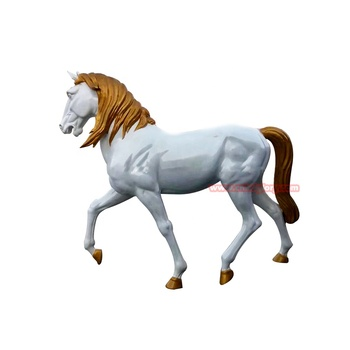 Custom Design Garden Decor Products Fiberglass Horse Statue