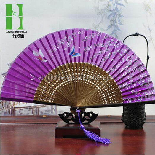 China personalizado vindima priomition hand held fan