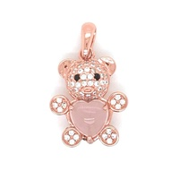 2019 The Most Fashionable And Personalized Design Bear Silver Pendant