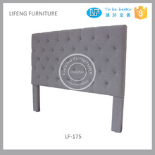 Latest bedroom furniture designs mutiple sizes available grey linen headboard , LF-175