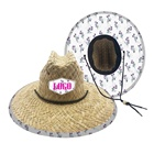 Custom Wholesale Summer Lifeguard Embroidered Straw Farmer Hats