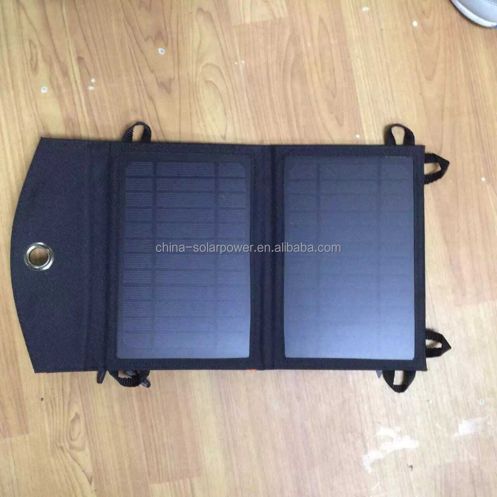 folding portable solar charger 5V charging iphone, sangsumg, nokia phone