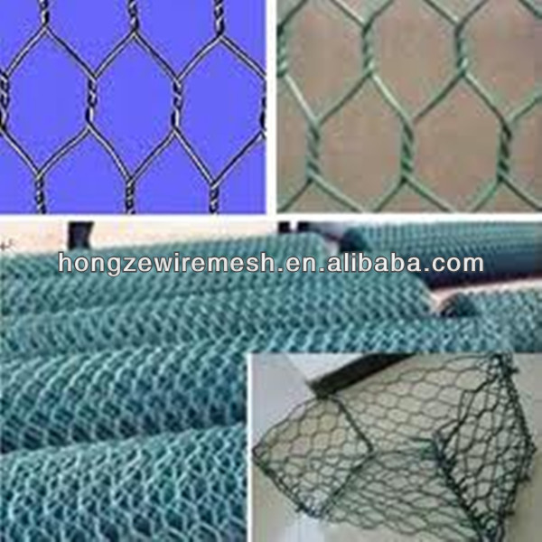 "1"" 25mm PVC Hexagonal Wire Mesh For Poultry Netting (SO9001:2008)"
