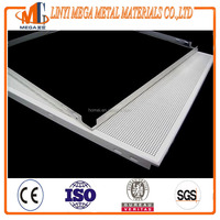 china supplier perforated metal aluminium suspended ceiling tiles 600*600mm clip in aluminum access panel ceiling tiles