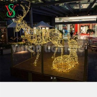 IP65 Waterproof led holiday Outdoor Motif Decoration Large Christmas Reindeer Lights China