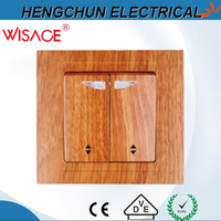 two gang one way wall switches with indicator light