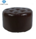 wholesale bar furniture Antique wooden round leather bar stool Fitting Room shoes changing footrest foot stool