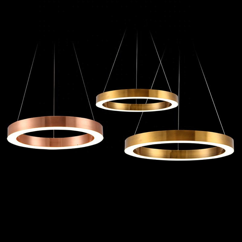 Luxurious LED Circle chandeliers round-shaped combination for office hotel lobby restaurant parlor club home light fixtures