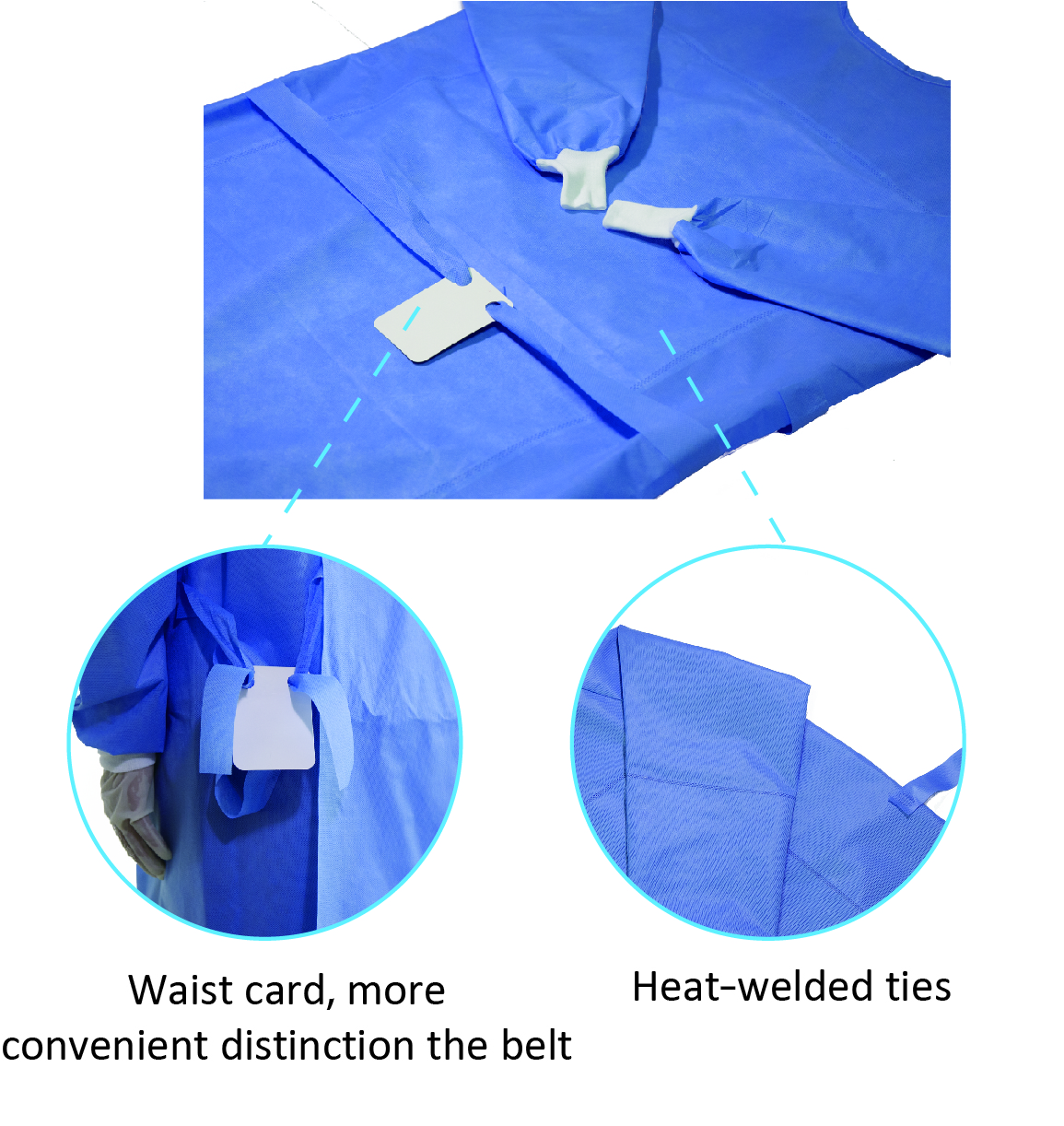 Medical sterile disposable surgical operation theatre gown for surgical operation