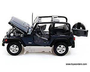 31663bu Maisto - Jeep Wrangler Rubicon (1:18, Blue) 31663 Diecast Car Model Auto Vehicle Die Cast Metal Iron Toy Transport