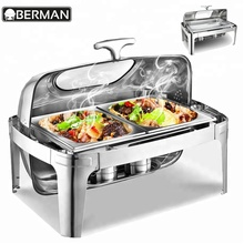 Guangzhou berman buffet shafting dish roll top chafing dish for sale philippines