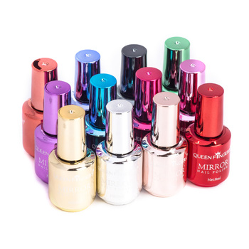 Newby brand nail art gel mirror effect colors custom logo nail polish