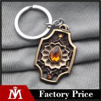 Online Game DOTA2 Three Kaitai Spirit Keychain Ember Spirit Keyring Souvenir Ember Spirit Stone Charms Necklace Pendant