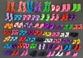 60 Pairs set Fashion Heels Sandals Doll Shoes For Barbie Dolls Outfit Dress Lots of Designs