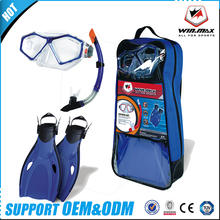 Guangzhou Wholesale Swimming Glasses Colored Lenses Snorkel Swimming Googles Diving Set