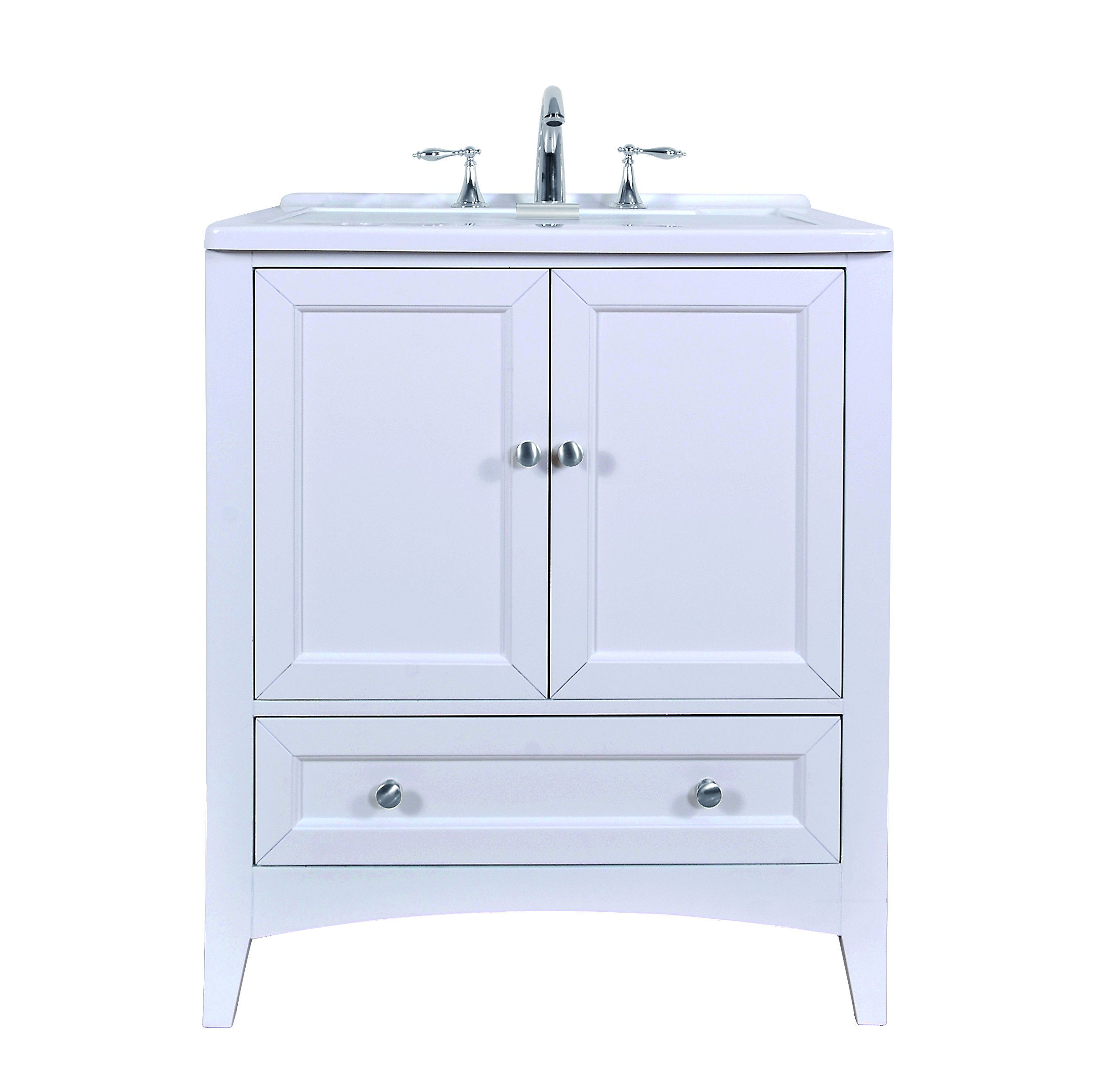 Get quotations · stufurhome gm y01w 30 5 inch pure white single laundry sink