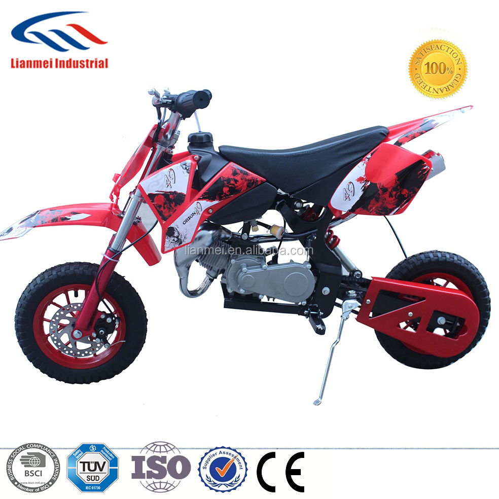 49cc mini dirt bike motorbike sertifikat