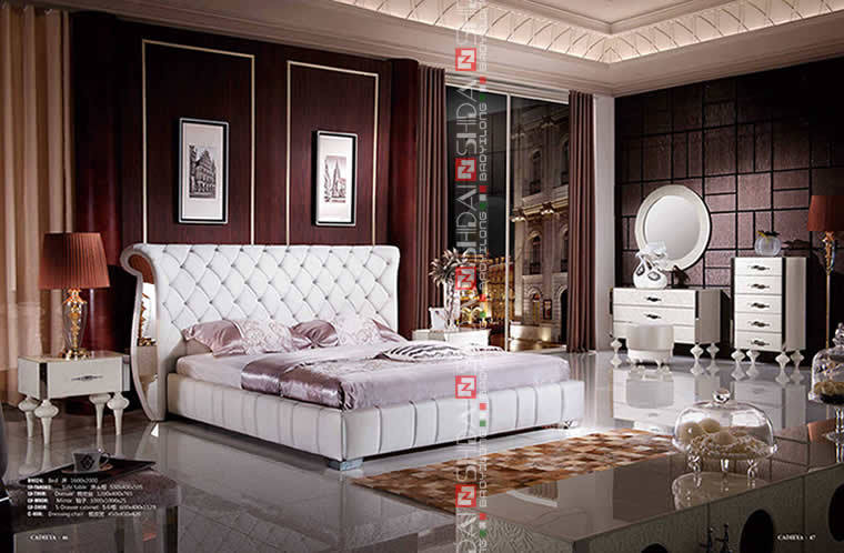 The italian modern bedroom set bed room bed furniture beds for Bedroom designs pakistani