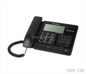 ESN-238 Recording telephones  music phones with SD card Corded desktop caller ID  landline phones  home telephones office telephones