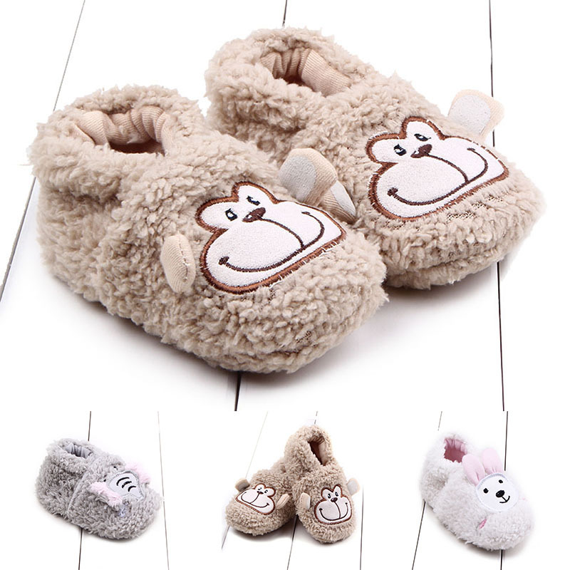 Wholesale Fashion boutique kids warm baby animal shoes