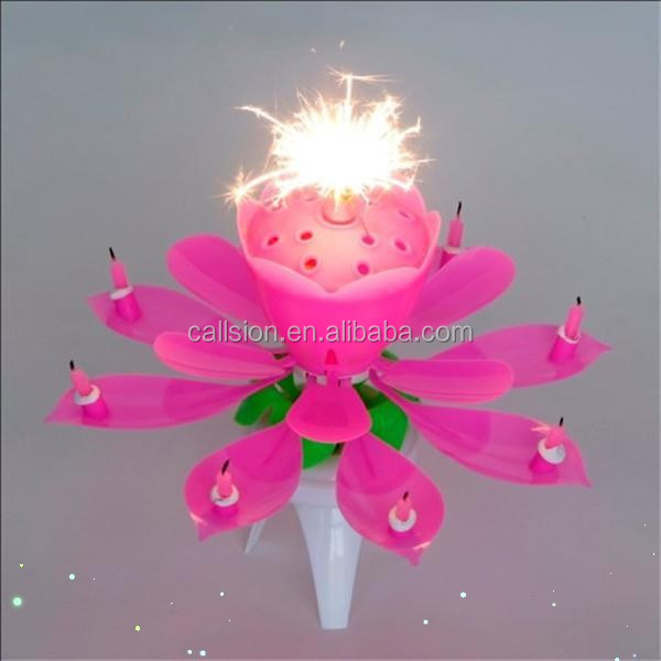 2014 Hot Selling Flower Music Magic Birthday Candle