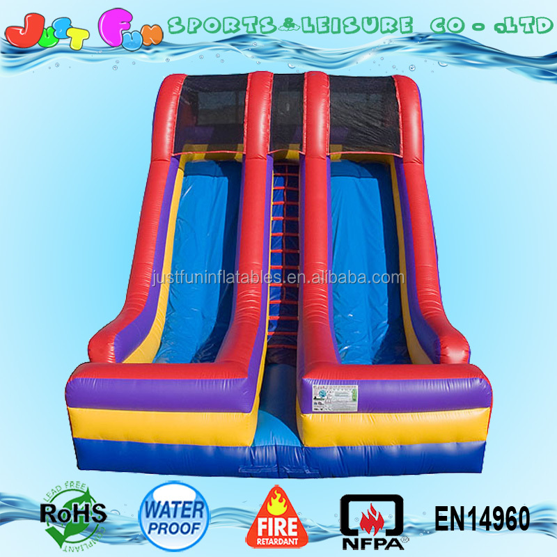 party equipment 2 lane 18ft inflatable slide