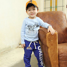 DropShippingChild Baby Boys Long Pants Trousers Casual Rainbow Pattern Cotton Bottoms 2-6Y