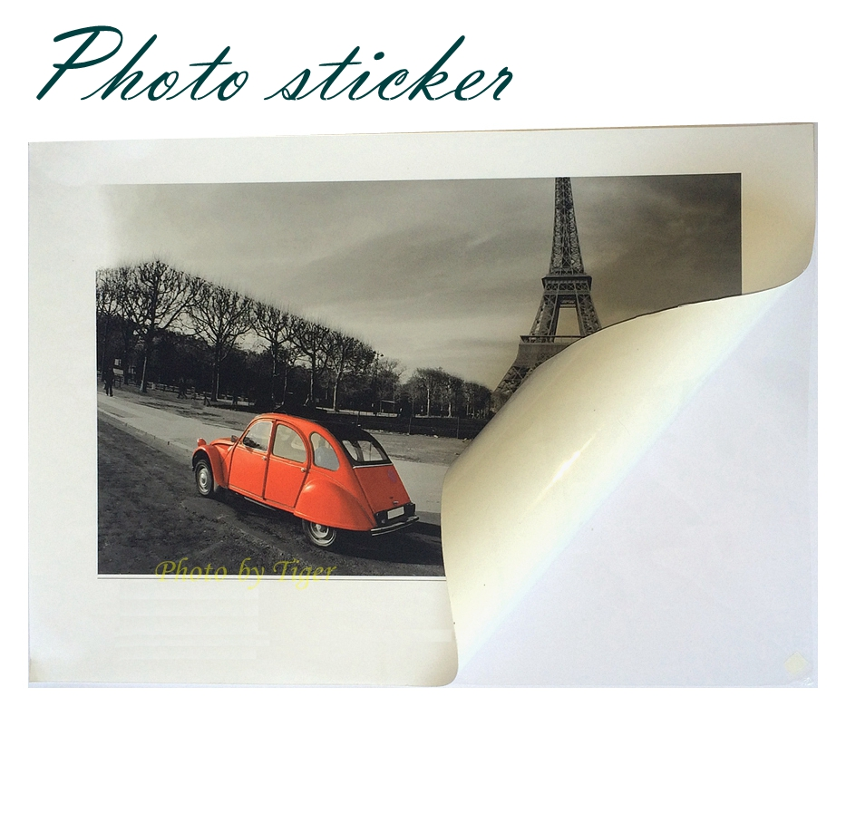 Adhesive glossy photo paper 135gsm A4/sticker paper A4