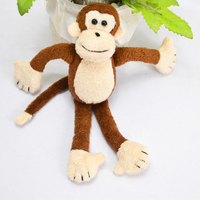 Factory Cute soft toy plush magnet monkey for kids