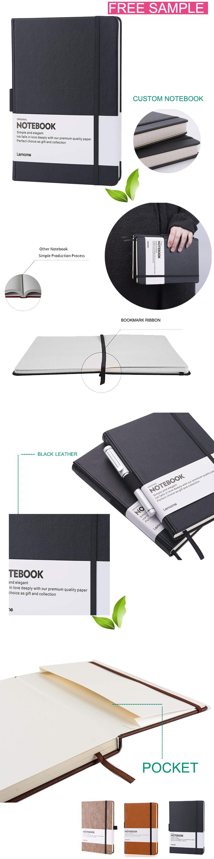 Custom 2019-2020 PU Embossed หนัง Journal Planner Notebook With Elastic