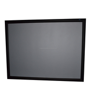 high gain 3D silver fabric fixed frame projector screen for home theatre
