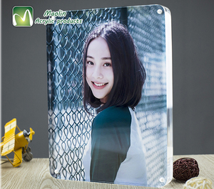 OEM manufacturer Clear acrylic magnetic 5x7 photo frames
