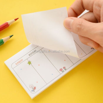 customized letter shaped sticky notes fancy note pad with paper memo